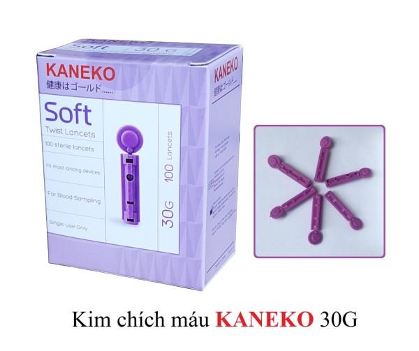 Nơi bán 100 kim chích máu KANEKO tròn phù hợp với các máy đo đường huyết, hàng xuất Châu Âu, Soft Twist Lancets