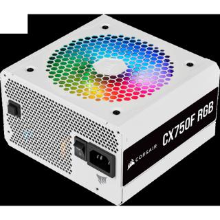 Nguồn Corsair CX750F RGB White 80 Plus Bronze Full Modul - Hàng Chính Hãng thumbnail