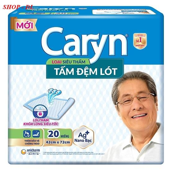 Tấm đệm lót Caryn siêu thấm 20 miếng (42x72cm) nhập khẩu
