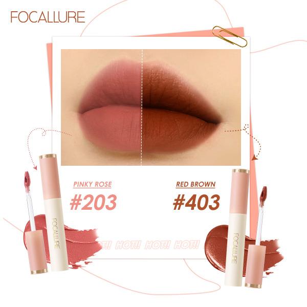 FOCALLURE Silky-Smooth Velvet-Matte Lip Cream Son môi Tint Lip Cream Chất màu cao Kết cấu mềm mịn mượt mà Dễ dàng áp dụng