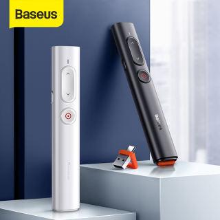 Bút Trình Bày Không Dây Baseus, Bộ Chuyển Đổi USB C 2.4Ghz, Bút Điều Khiển Từ Xa Cầm Tay, Bút Đỏ PPT, Bút Trình Bày Điểm Nguồn