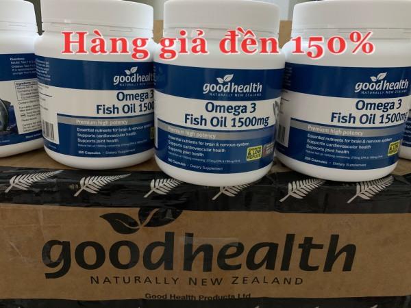 Bill, Hàng Air Dầu cá Omega 3 Goodhealth hàm lượng 1500mg nội địa New Zealand hộp 200 viên
