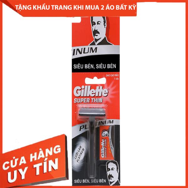 Dao cạo râu lưỡi đơn Gillette Super Thin Thời Trang Nam LiyorShop - LIDCR001 nhập khẩu