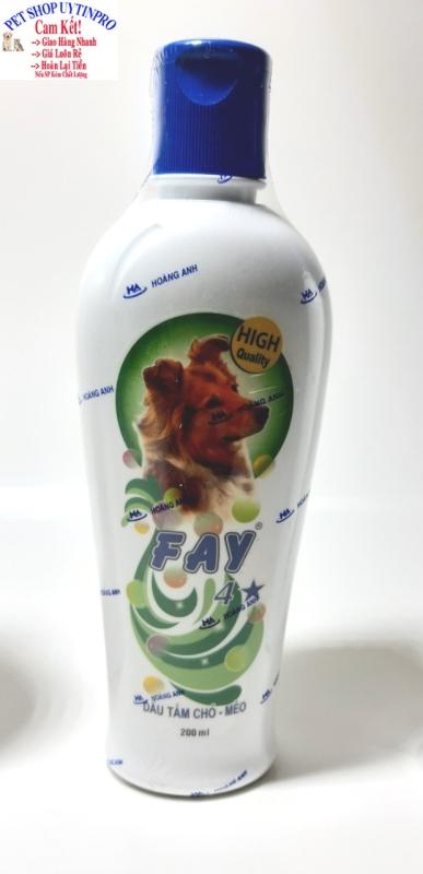 [HCM]DẦU TẮM THÚ CƯNG CHÓ MÈO Fay 4 Sao hỗ trợ làm sạch ve rận bọ chét Duy trì độ ẩm Khử mùi hôi Làm mượt lông Chai 200ml