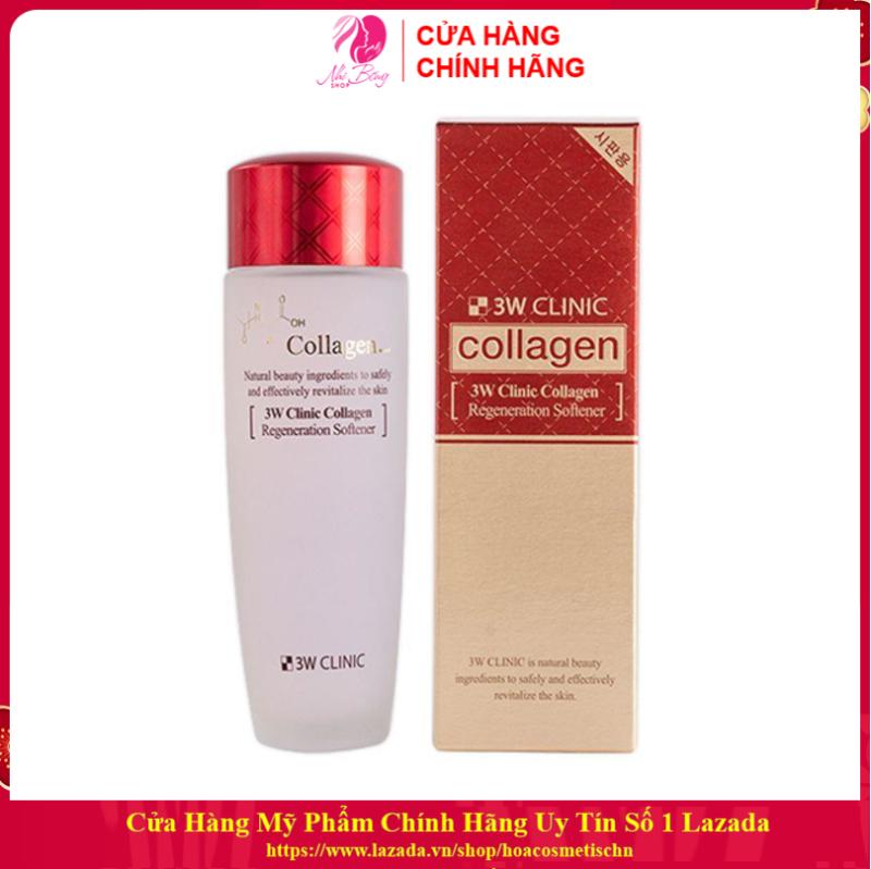 [Hàng Nhập Khẩu Hàn Quốc] Nước hoa hồng dưỡng da săn chắc chiết xuất Collagen 3W Clinic Hàn Quốc 150ml giá rẻ