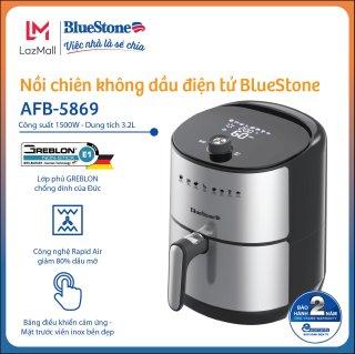 Nồi chiên không dầu điện tử BlueStone 3.2L AFB-5869 - Bảng khiển điện tử kết hợp màn hình LED sang trọng - Bảo hành 24 tháng - Hàng chính hãng- thumbnail