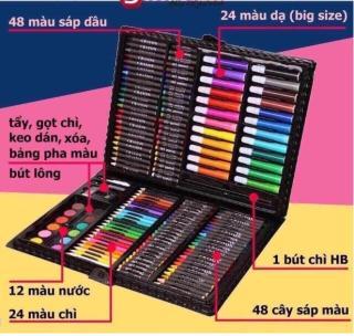 Hộp Màu 150 Chi Tiết được làm từ chất liệu cao cấp tạo màu đẹp, sắc nét, tiết kiệm cho bé yêu thỏa sức sáng tạo giảm giá sốc 50% hôm nay thumbnail