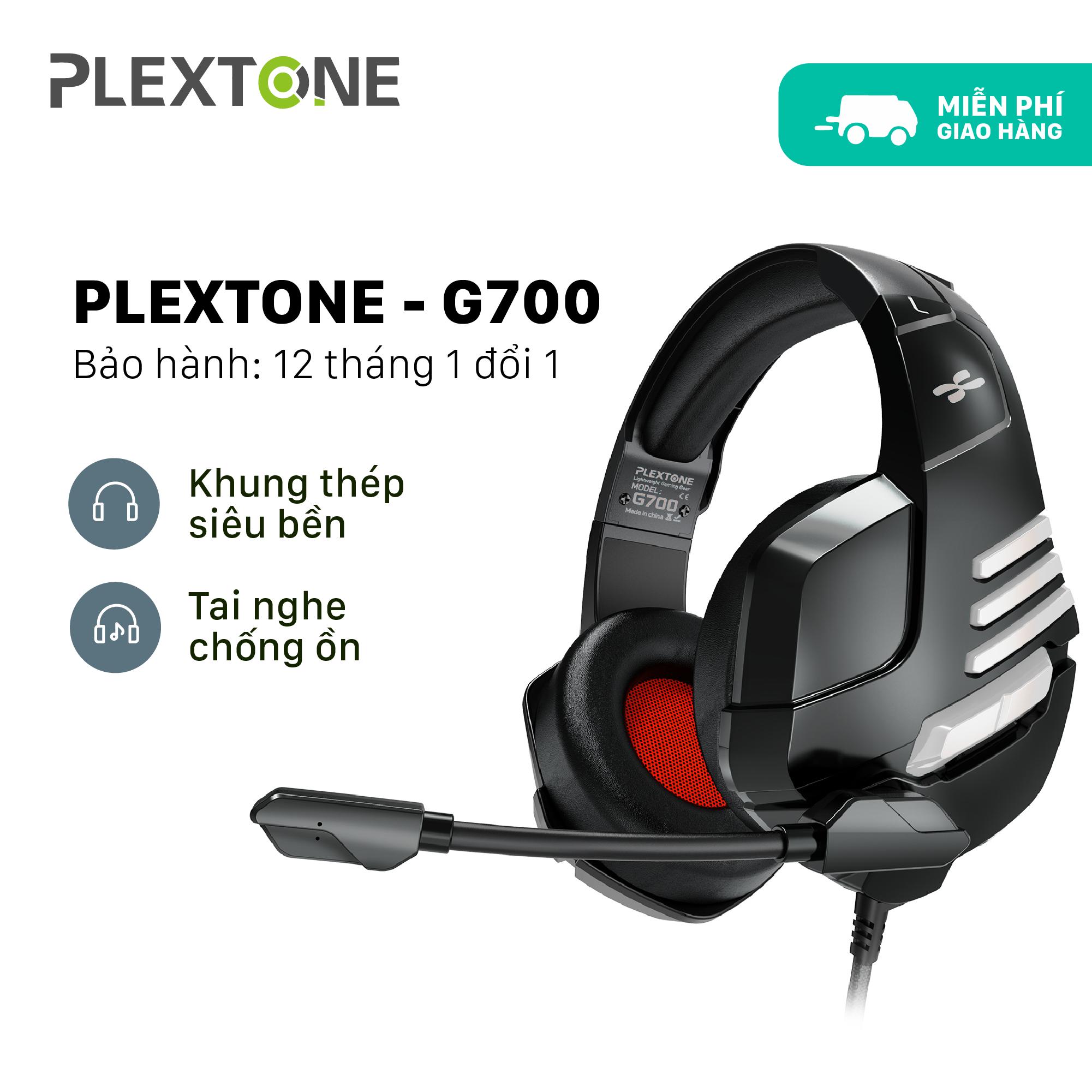 Tai nghe máy tính có mic Plextone PC780, tai nghe PC Gaming thiết kế chụp tai có dây bọc dù chống rối dài 2.2m dành cho Game thủ tương thích với Mobile và Laptop nghe nhạc hay, chơi Game tốt giá rẻ.