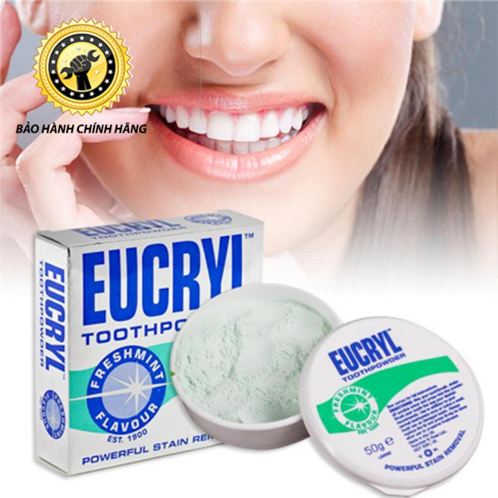 Bột Tẩy Trắng Răng Eucryl Chính Hãng Anh Quốc 50gram