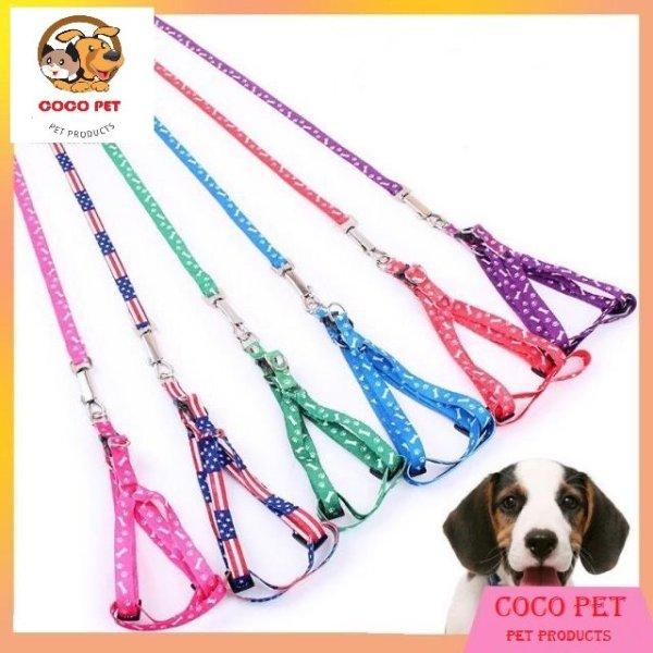 Dây dắt chó mèo đi dạo, với chất liệu vải mềm của dây sẽ tạo cảm giác êm ái dễ chịu hơn cho các boss