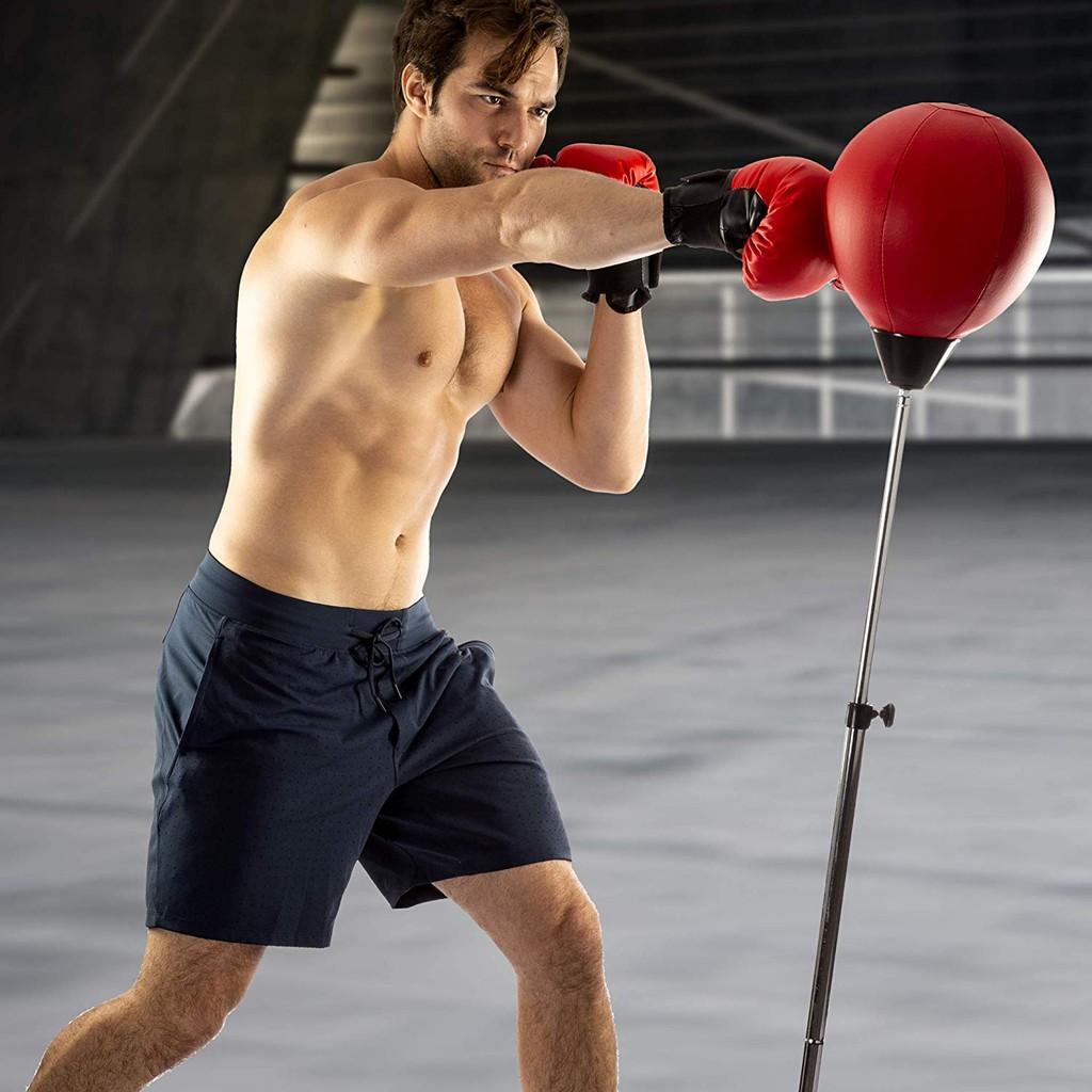 Mã Coupon Bóng đấm Boxing Phản Xạ, Nơi Bán Bóng Đấm Boxing Giá Re - Uy Tín - Chất Lượng,  Bóng đấm Boxing Phản Xạ + Găng Tay Boxing+ Bơm TRẺ EM