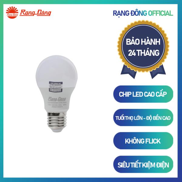 Bóng đèn LED BULB tròn Chính hãng Rạng Đông Siêu tiết kiệm điện Tuổi thọ cao Sử dung chip LED đáng tin cậy A55N4/5W Rạng Đông