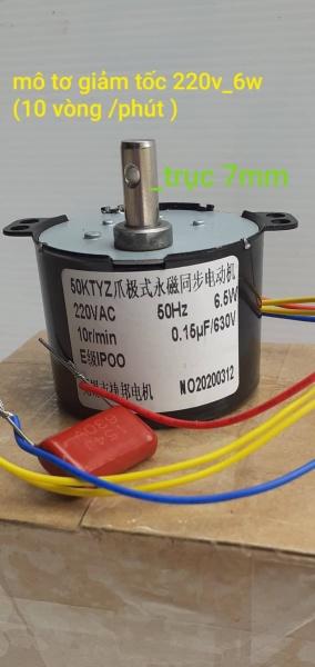 Mô tơ giảm tốc 220V 6W 10vòng /phút