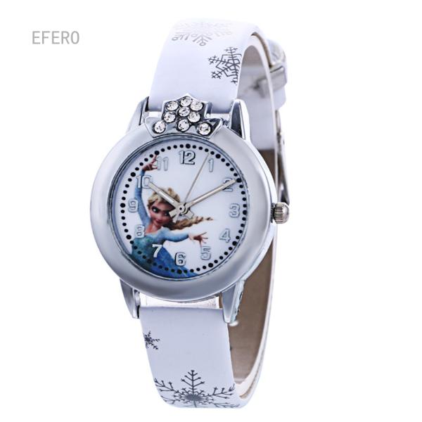 Giá bán SFM 1 Chiếc Đồng Hồ Đeo Tay Thạch Anh Elsa Anna Quà Tặng Cho Bé Gái Trẻ Em Trẻ Em Hoạt Hình Đồng Hồ Công Chúa Snow Queen Hoạt Hình