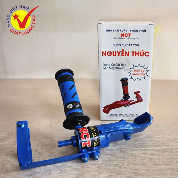 Lưỡi cắt tôn Nguyễn Thức - Dụng cụ cắt Tole gắn máy khoan -  Cắt INOX dày 1.5mm - Máy cắt tôn Nguyễn Thức - Phiên bản cải tiến 2020