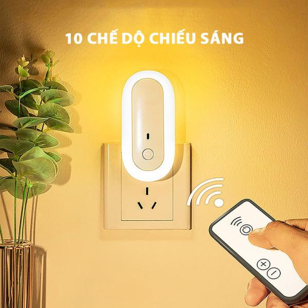 Bảng giá Đèn ngủ thông minh điều khiển từ xa - Với 10 chế độ chiếu sáng khác nhau - Ánh sáng hài hòa, không làm hại mắt