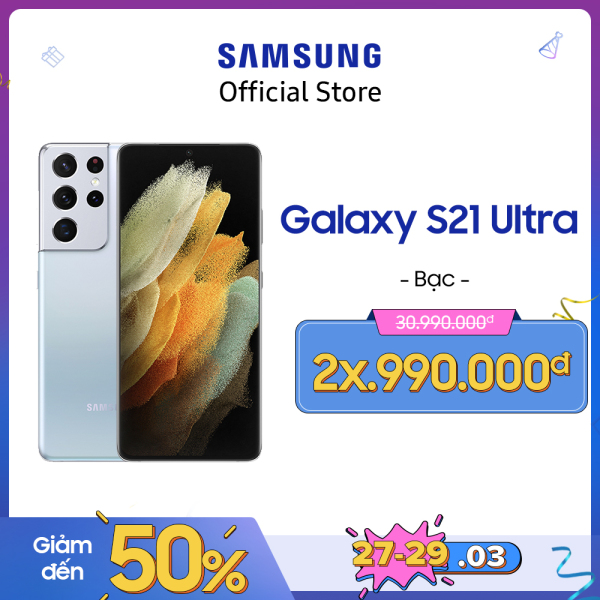 Điện thoại Samsung Galaxy S21 Ultra (12GB/128GB) - Dự kiến giao hàng 29/01 - Tặng Smart Tag