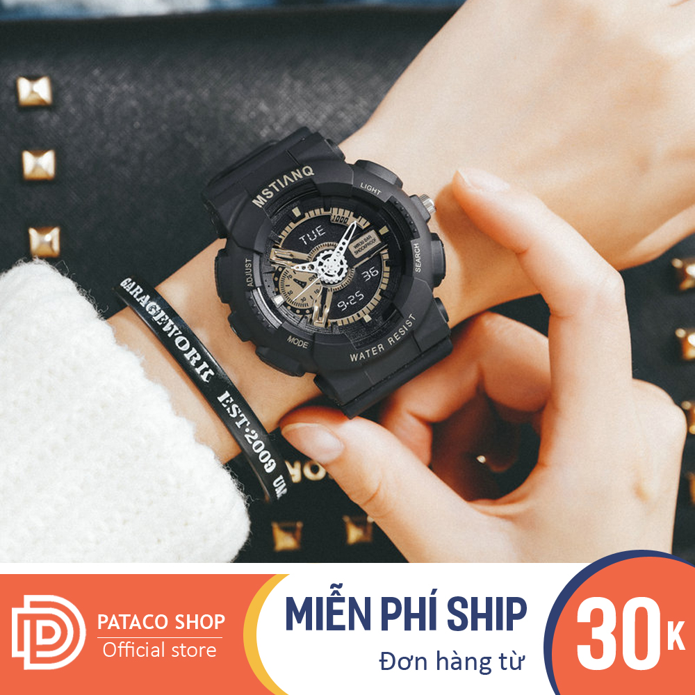 Đồng hồ thể thao nam nữ MSTIANQ M115 máy điện tử dây nhựa siêu bền có lịch ngày tự động kháng nước 3ATM bảo hành 6 tháng