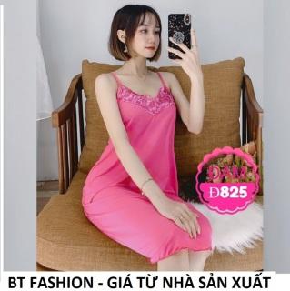 ĐẦM Ngủ Mặc Nhà Mềm Mát BT Fashion, Video Thật (Thun Lạnh -Ren 2 Dây) DN01 thumbnail