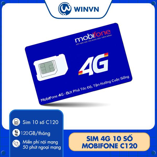 sim 4G mobifone C120N 120GB/tháng (4Gb/ngày) Miễn phí cuộc gọi nội mạng + 50 phút gọi ngoại mạng