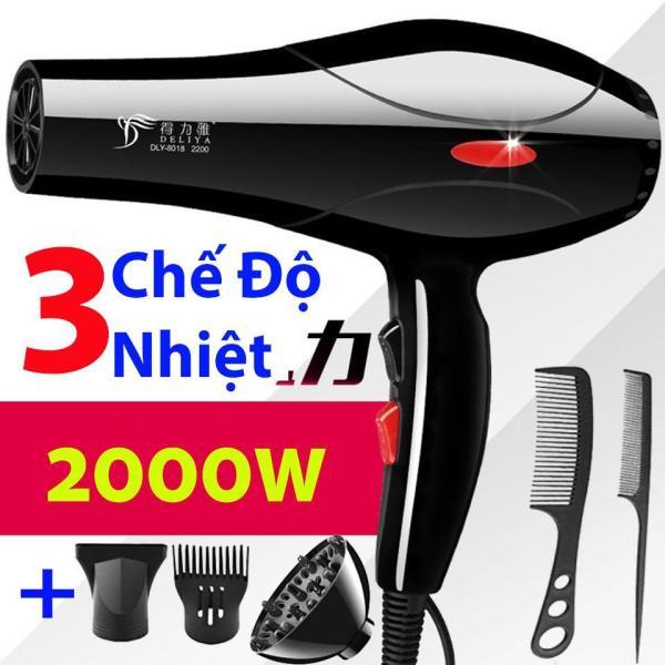Máy sấy tóc chuyên nghiệp công suất lớn DELIYA 2200W DLY-8018 (Mẫu mới 2019), Tặng bộ dụng cụ 5 món giá rẻ