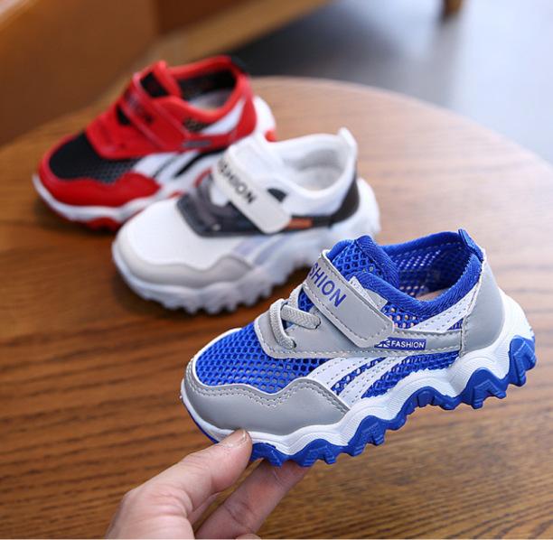 Giày thể thao đẹp cho bé trai cao cấp, chống trượt, siêu nhẹ thiết kế lưới thoáng khí tốt dành cho bé 1-8 tuổi giá rẻ