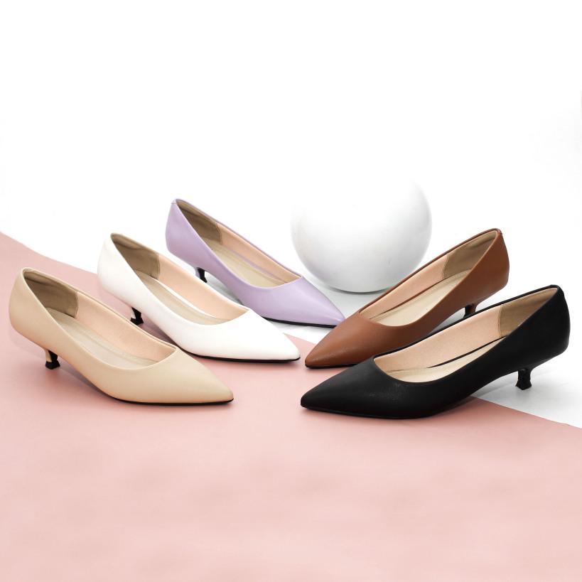 Giày Cao Gót 3cm Mũi Nhọn Gót Nhỏ Trơn Basic Pixie X544 giá rẻ