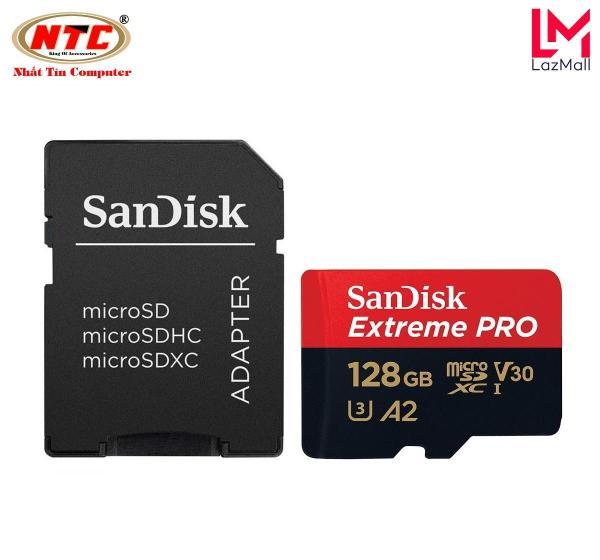 Thẻ Nhớ MicroSDXC SanDisk Extreme Pro V30 U3 4K A2 128GB R170MB/s W90MB/s (Đen đỏ) - Nhat Tin Authorised Store