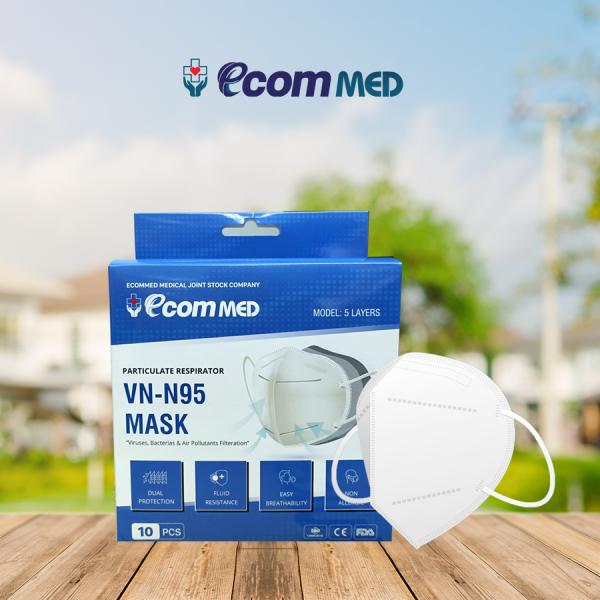 Khẩu Trang N95 EcomMed (Hộp 10 cái)