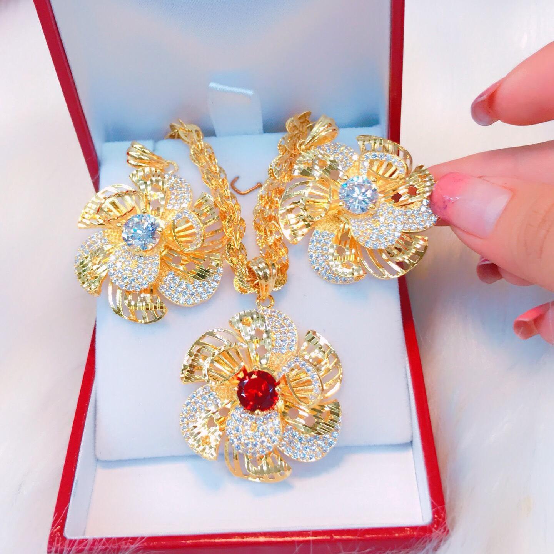 Dây chuyền vàng nữ 18k Trang Sức Misa VD09071922 - đeo làm công sở cực sang chảnh và quý phái
