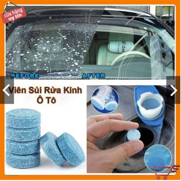 COMBO 10 Viên sủi rửa kính xe ô tô, Viên pha nước rửa kính ô tô, Nước rửa kính ô tô, Chất làm sạch kính lái ô tô