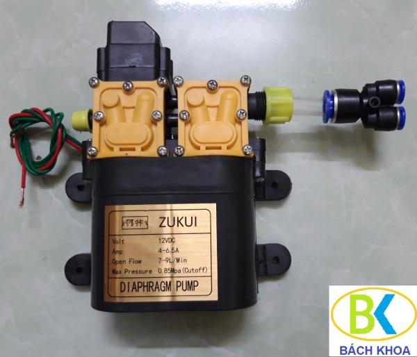 Máy bơm mini 12V 150W Bơm đôi ZUKUI rửa xe, tưới lan