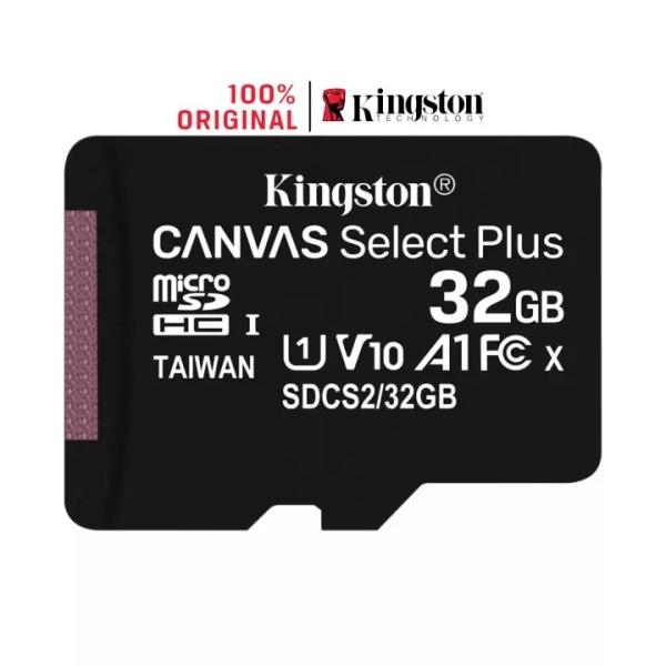 [Voucher 8% tối đa 800k cho đơn từ 150k] Thẻ Nhớ MicroSDHC Kingston Canvas Select Plus 32GB Class 10 U1 100MB/s SDCS2/32GBSP