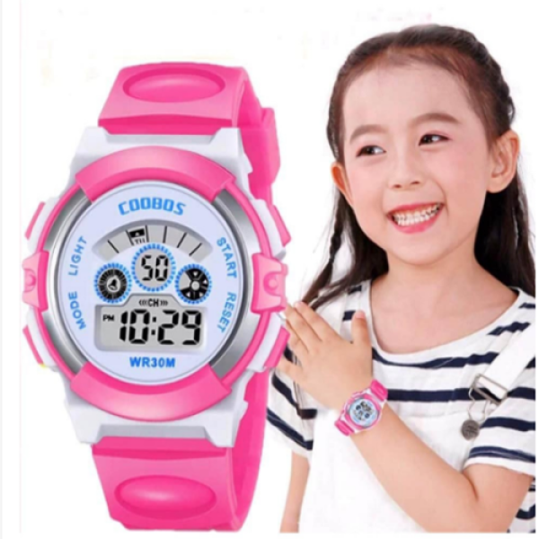 đồng hồ coobos cho bé yêu màu hồng bán chạy