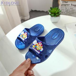 Dép Bé Trai Trẻ Em Kidlove, Giày Chống Trượt Trong Nhà Họa Tiết Hoạt Hình Đế Mềm