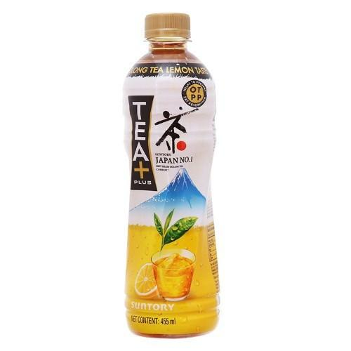 Lốc 6 chai trà ô long Tea Plus chanh 455ml
