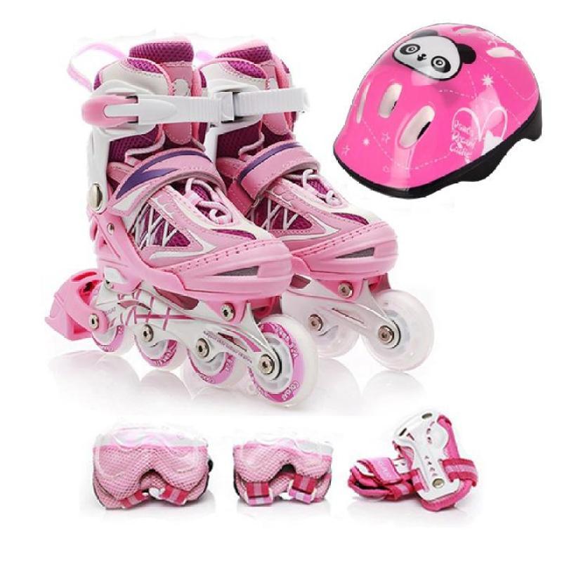Phân phối Giày trượt Patin tặng kèm đồ bảo hộ - Màu hồng
