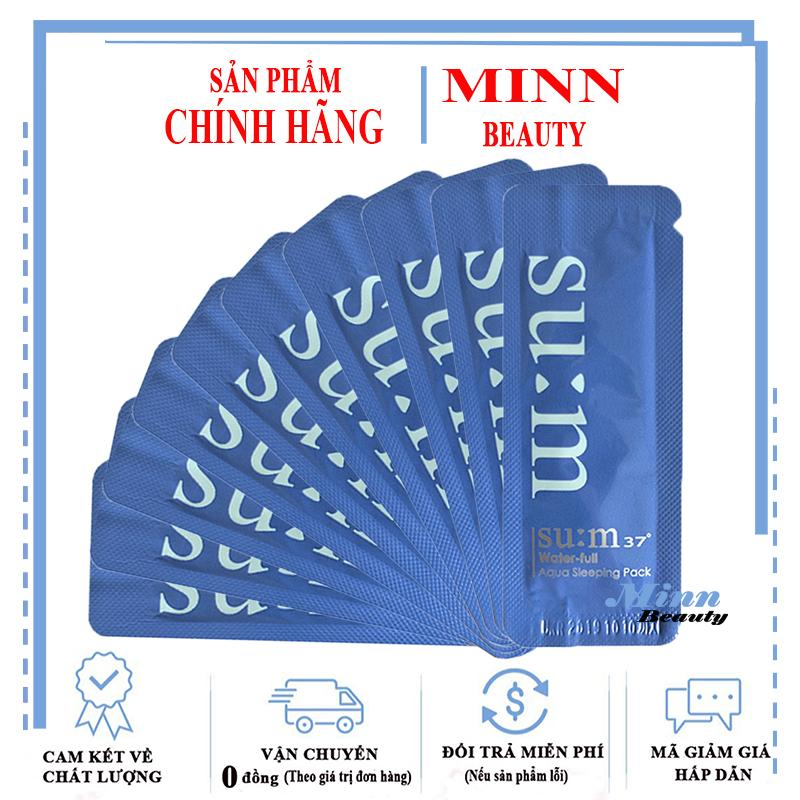 Deal Khuyến Mãi Combo 10 Gói Sample Mặt Nạ Ngủ Bổ Sung Ẩm Su:m37 Water-full Aqua Sleeping Pack 1mlx10