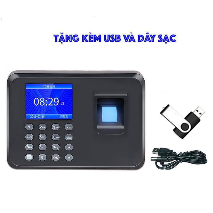 Giá Máy Chấm CôngVân Tay Siêu Nhạy Tặng Kèm USB Và Dây Sạc - EL04