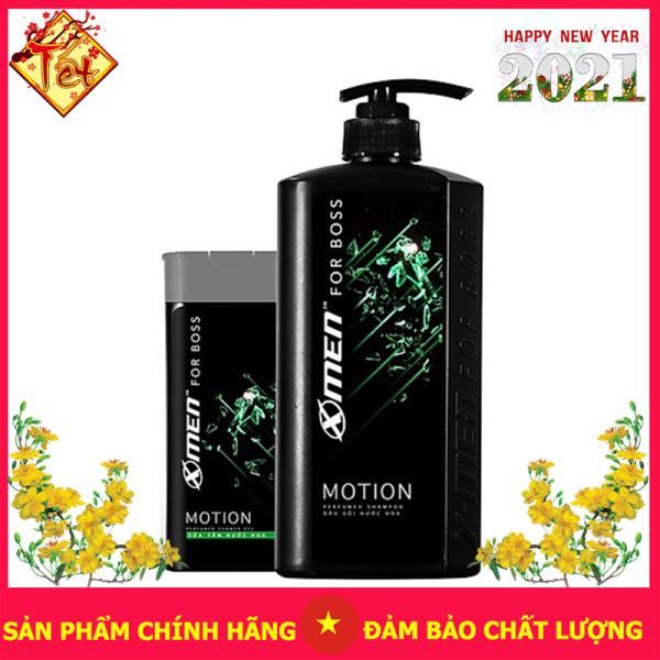 Combo Dầu gội nước hoa X-Men for Boss Motion 650g + Sữa tắm nước hoa X-Men for Boss Motion 180g giá rẻ