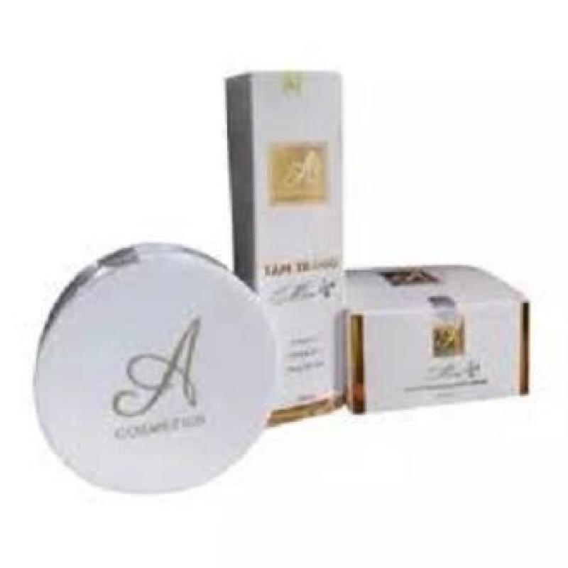 Combo tắm trắng và kem body mềm A Cosmetics giúp dưỡng trắng da toàn thân bật tone rõ rệt sau 7 - 10 ngày nhập khẩu
