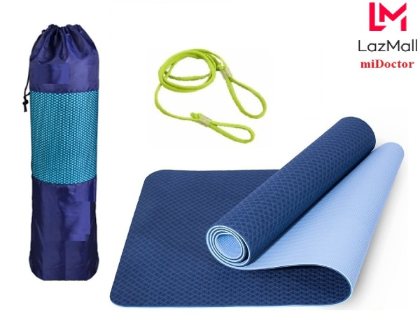Bảng giá Thảm Tập YoGa Gym 2 Lớp miDoctor Màu Xanh CoBan + Bao Đựng Thảm Tập Yoga + Dây Thảm Tập Yoga (Chọn màu)