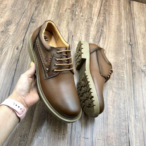 [ uy tín-BH 5 năm] Giày nam , Giày Đốc Nam được sản xuất tại xưởng Nguyễn Được Giày Buộc Dây Nam Da Bò Cao Cấp Tuyệt Đẹp Kiểu Dáng Trẻ Trung Năng Động Đế Cao Su Chống Trơn Trượt - GBD09 giá rẻ