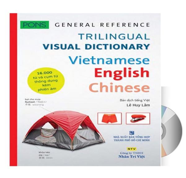 [HCM]Sách từ điển hình ảnh chuyên ngành 16.000 từ có mp3 nghe qua app Pons General Reference - Trilingual Visual Dictionary Vietnamese - English - Chinese +DVD tài liệu