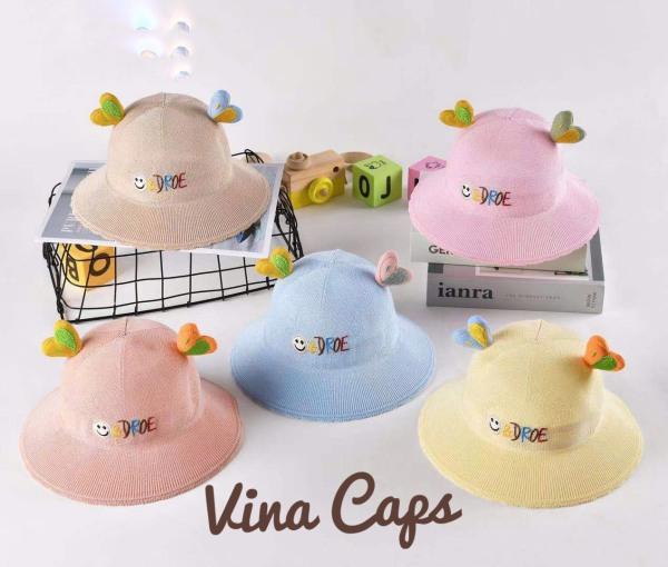 Giá bán Nón em bé, nón bé gái Cute vải Nhung mềm êm cực đẹp