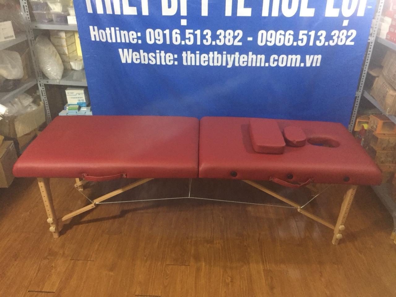 Giường massage gấp chân gỗ HL3 nhập khẩu