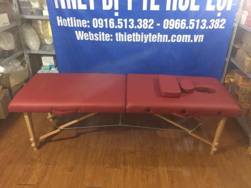 Giường massage gấp chân gỗ HL3