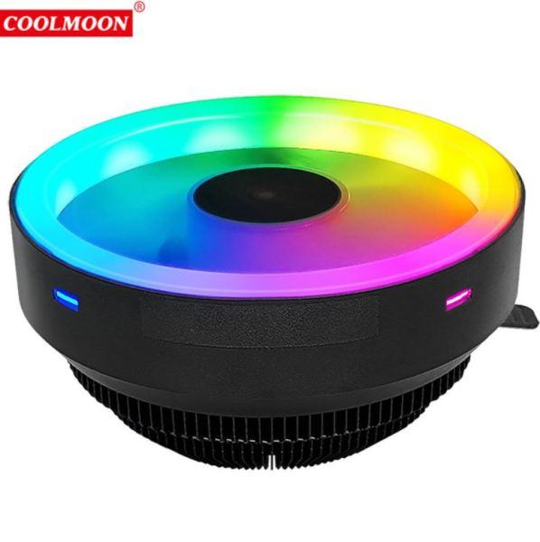 Quạt Tản Nhiệt, Fan CPU Coolmoon Glory I Led RGB - Tự Động Đổi Màu