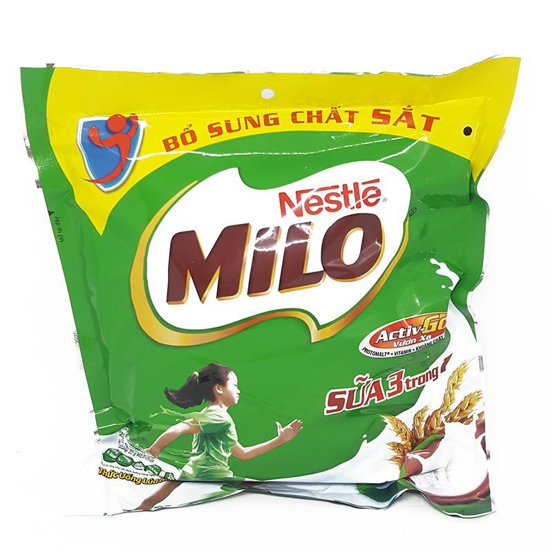 Thức uống lúa mạch Milo 3 in 1 bịch 10 gói x 22g