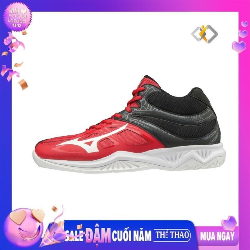 Giày cầu lông nam Mizuno Thunder Blade 2 Mid V1GA197562 chính hãng - chống trơn trượt - êm chân - bảo hành toàn quốc – Giày bóng chuyền nam cổ cao – giày thể thao nam cao cấp màu đỏ